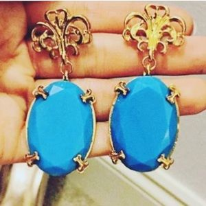 Fashion Nova Jewelry - Turquoise earrings gold